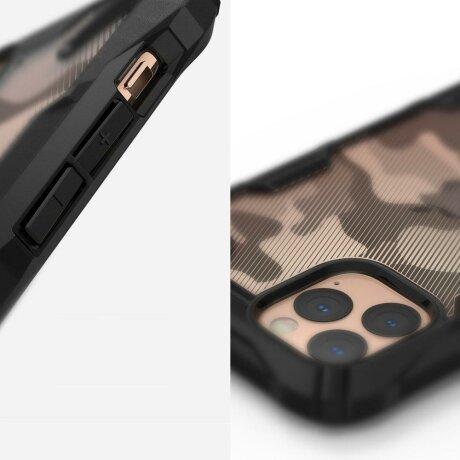 Husa Ringke Fusion X Design durable PC Case with TPU Bumper iPhone 11 Pro Max Camo Black