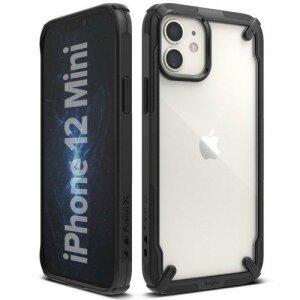Husa Ringke Fusion X durable PC Case with TPU Bumper for iPhone 12 mini black