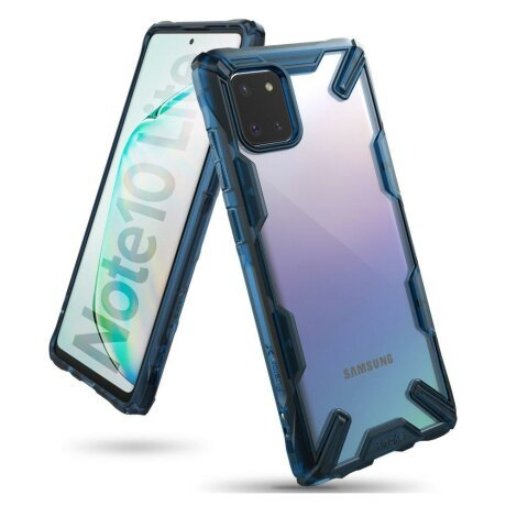 Husa Ringke Fusion X durable PC Case with TPU Bumper for Samsung Galaxy Note 10 Lite blue