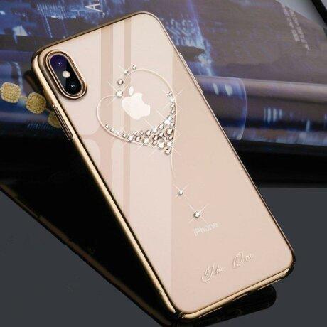 Husa Samsung Galaxy Note 10 Kingxbar Wish Series Swarovski Crystals Gold