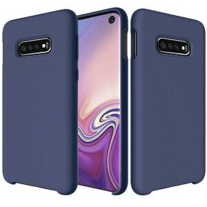 Husa Silicone Case Soft Flexible Rubber Cover pentru Samsung Galaxy S10e Dark Blue