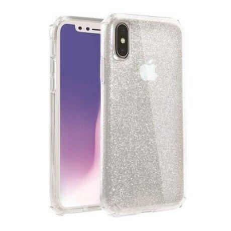 Husa UNIQ etui Clarion Tinsel iPhone X/Xs Glitter transparenta