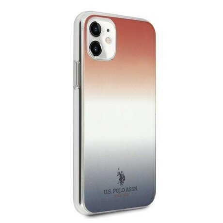 Husa US Polo iPhone 11 blue&red Gradient Pattern