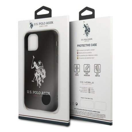 Husa US Polo iPhone 11 Pro black Silicone