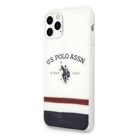 Husa US Polo iPhone 11 Pro Max white Tricolor