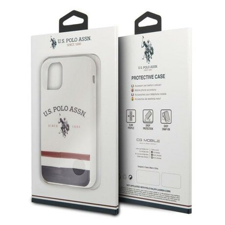 Husa US Polo iPhone 11 Pro white Tricolor Pattern