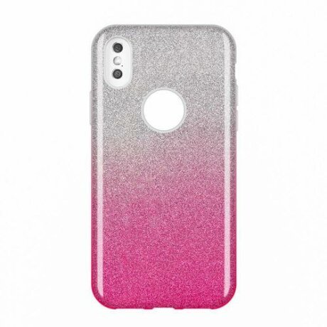 Husa Wozinsky Glitter Case Shining Cover for iPhone XS Max roz