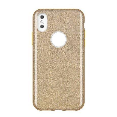 Husa Wozinsky Glitter Case Shining Cover pentru iPhone XS Max gold