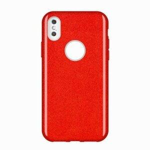 Husa Wozinsky Glitter Case Shining Cover pentru iPhone XS Max rosu