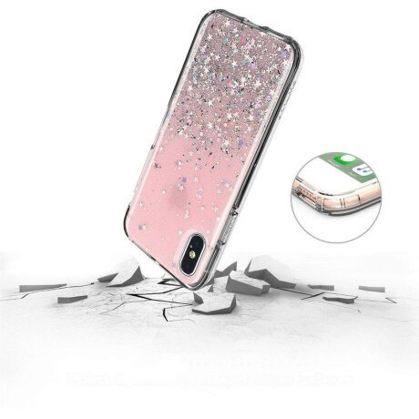 Husa Wozinsky Glitter pentru Samsung Galaxy A70 Pink