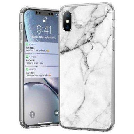 Husa Wozinsky Marble TPU case cover pentru iPhone 11 Pro alb