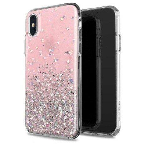 Husa Wozinsky Star Glitter Shining Cover pentru iPhone 11 Pro roz