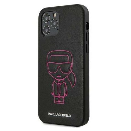 "Karl Lagerfeld  iPhone 12 mini 5,4"" pink hardcase Karl Ikonik Outline"