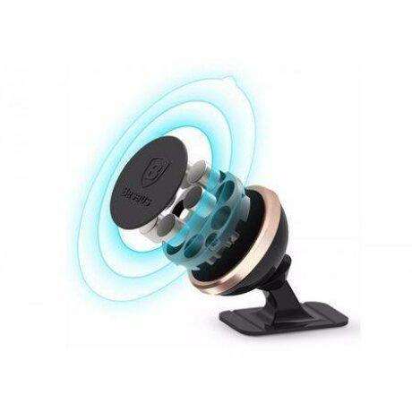 Suport Auto Magnetic Baseus 360 de tip Stick-on, Rose-Auriu
